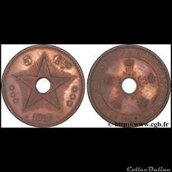 5 centimes Congo Belge  Léopold II  1887