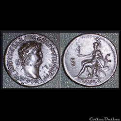 Sesterce Néron Roma 65