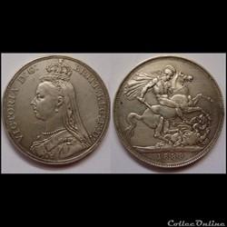1 crown Victoria 1ère 1889