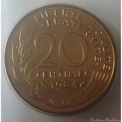 20 centimes Marianne 1984 Pessac F.156/2...