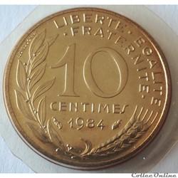 10 centimes Marianne 1984 Pessac F.144/2...