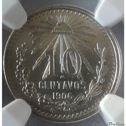10 Centavos 1906 NGC MS65