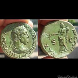 Vitellius - Sesterce - PAX AVGVSTI