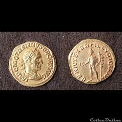 Trajan Dèce - Aureus -  GENIVS EXERC ILLYRICIANI