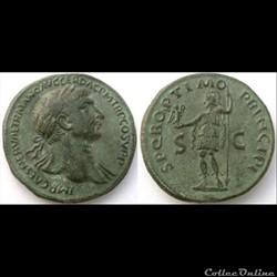 Trajan - Sesterce - SPQR OPTIMO PRINCIPI