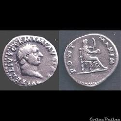 Vitellius  - Denier -PONT MAXIM