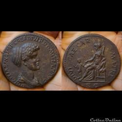 Domitia - sesterce - DIVI CAESAR MATRI