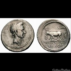 monnaie antique romaine jules cesar denier voconius
