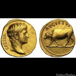 Auguste - Aureus -  AVGVSTVS taureau