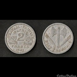 2 Francs Francisque 1943