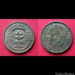 1 Franc Morlon poinçon croix de Lorraine