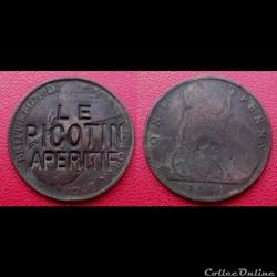 1 Penny Britannique Victoria de 1884 Sur...