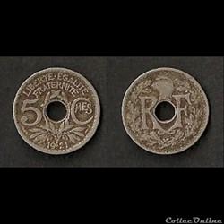 5 Centimes Lindauer 1921