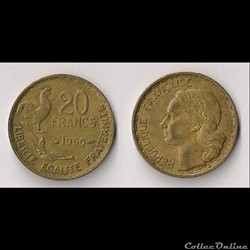 20 Francs George Guiraud 1950 (3 Faucill...