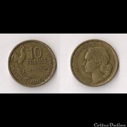 10 Francs Guiraud 1951