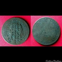 "10 Cts Napoléon III ""H.E.MITCHELL - HEDG..."