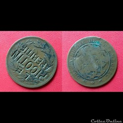 "10 Cts Luxembourg Contremarquée ""LE PICO..."