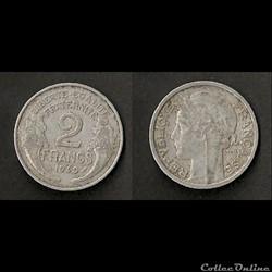 2 Francs Morlon Aluminium 1949