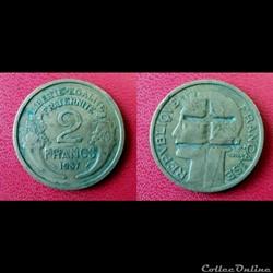 2 Fr Morlon contremarque croix de Lorraine