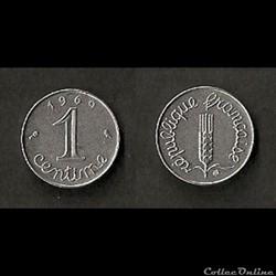 1 Centime Épi 1969