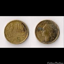 10 Francs Guiraud 1950 B