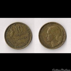 10 Francs Guiraud 1952