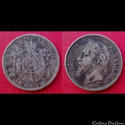 2 Francs Napoléon III Contremarquée SEDA...