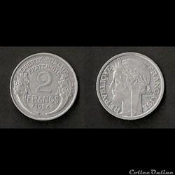 2 Francs Morlon Aluminium 1958
