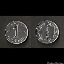 1 centime Épi 1962