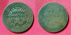 "10 Cts Napoléon III ""BAGNI S.SIMONE VIA ..."
