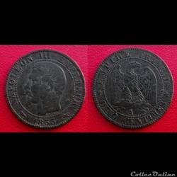 5 Cts Napoléon III Tête Nue 1853 A