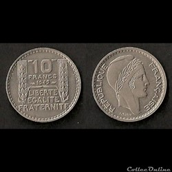 10 francs Turin 1949