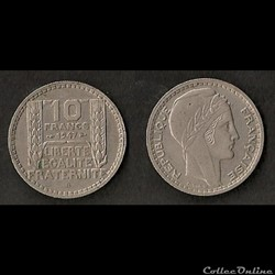 10 Francs Turin 1947 B