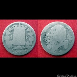 1 Franc Louis XVIII 1821A - poinçonnée