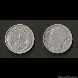 1 Franc Morlon Alu 1950 B