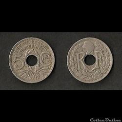 5 Centimes Lindauer 1918