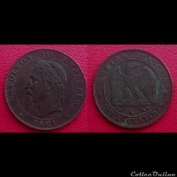 2 Cts Napoléon III Tête Laurée 1861 K