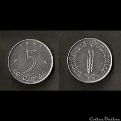 5 Centimes Épi 1961