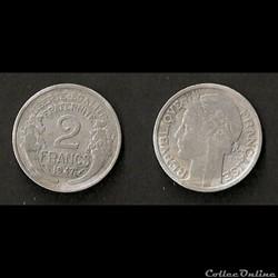 2 Francs Morlon Aluminium 1947