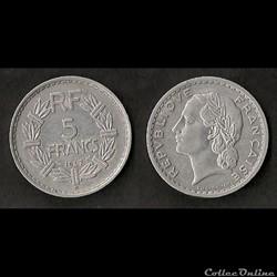 5 Francs Lavrillier 1947 B