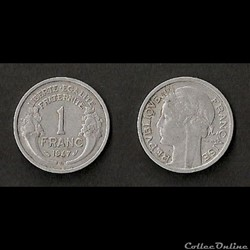 1 Franc Morlon Alu 1947 B