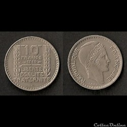 10 Francs Turin 1948 B
