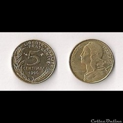 5 Cts Marianne 1996 4 plis