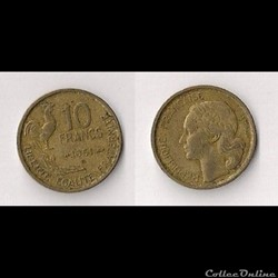 10 Francs Guiraud 1951 B