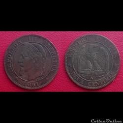 2 Cts Napoléon III Tête Laurée 1861 A