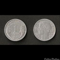 1 Franc Morlon Alu 1958