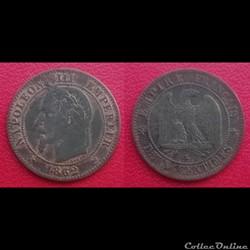 2 Cts Napoléon III Tête Laurée 1862 K