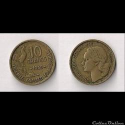 10 Francs Guiraud 1955