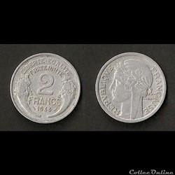 2 Francs Morlon Aluminium 1948