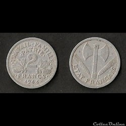 2 Francs Francisque 1944 B
